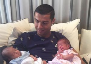 Cristiano Ronaldo Shares First Photo of Twins!