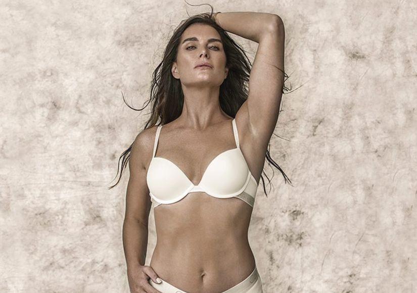 Back in Calvin Klein! See Brooke Shields Model Lingerie at 52