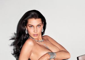 Bella Hadid Covers Her Topless Body with Sparkling Diamonds
