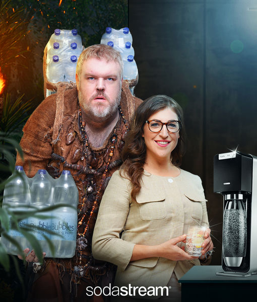 Mayim Bialik Teaches Us How to Make Sparkling Water at Home with Sodastream!