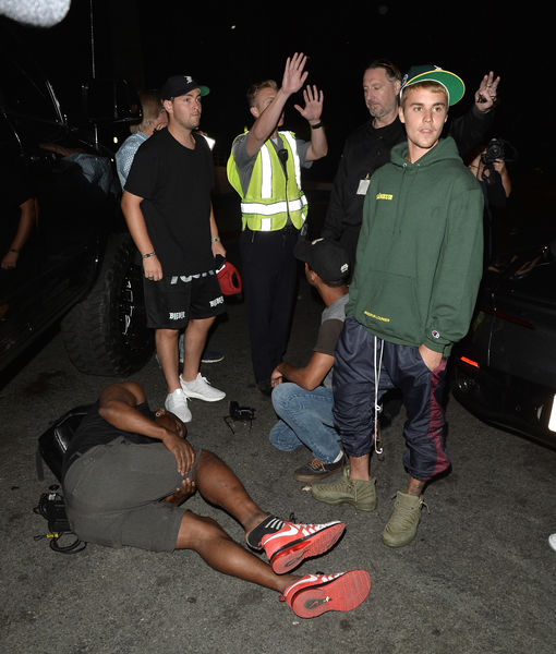 Video! Justin Bieber Accidentally Runs Over a Paparazzo Outside Church
