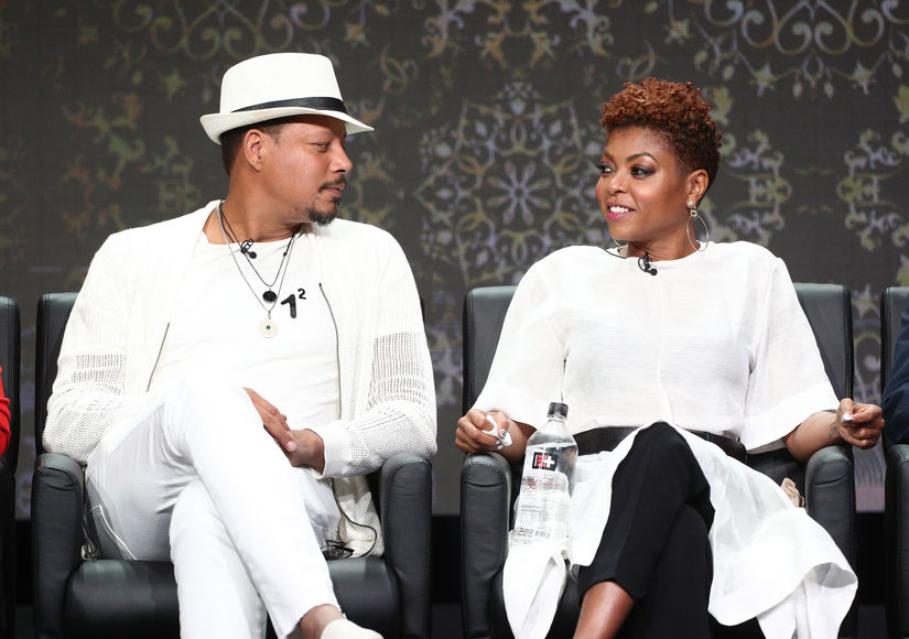 'Empire' Stars Terrence Howard & Taraji P. Henson Miss Jussie Smollett on Set
