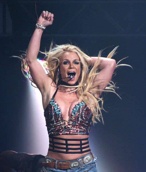 Video! Britney Spears' Frightening Stage Encounter with Crazed Fan: 'He's Got a Gun?'