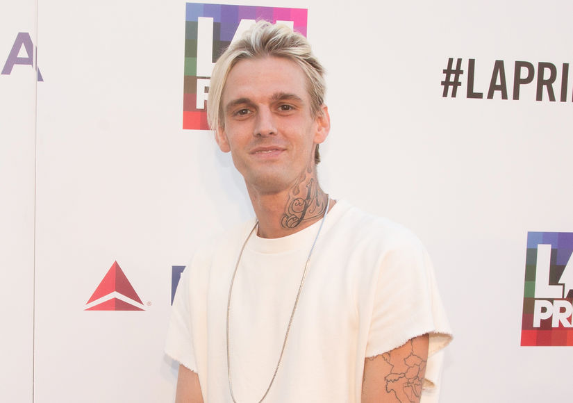 Out singer Aaron Carter gets emotional at an LGBTQ venue