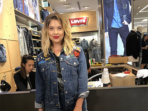 Ashley Benson Shows Off Levi's® Limited Collection at Macy's, Plus: Your Chance to Win a Gift Card