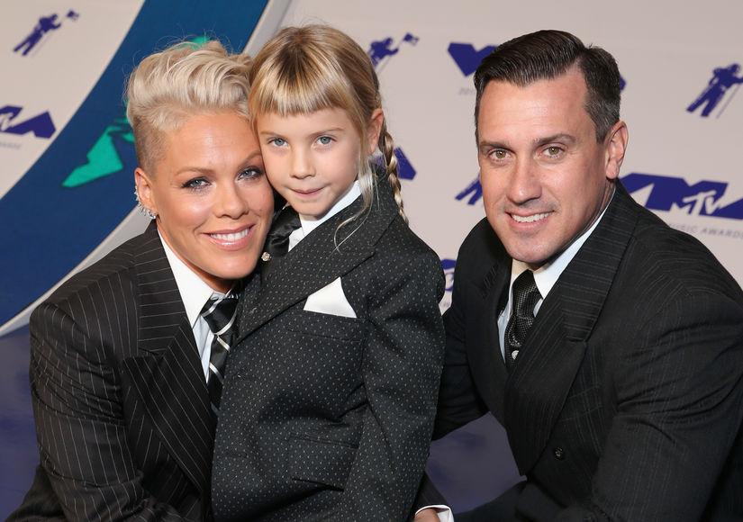 P!nk Makes It a Family Affair at VMAs, Knocks Swift/Perry Feud Talk