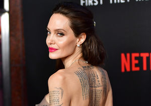 Angelina Jolie Shows Off Massive Back Tattoo While Making Rare…