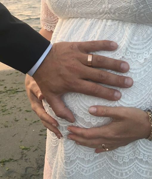 Married! Julia Stiles Shares Baby-Bump Wedding Photo