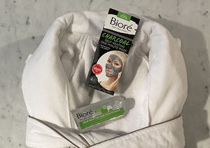 Win It! A Bioré Charcoal Self Heating One Minute Mask & Frette Robe