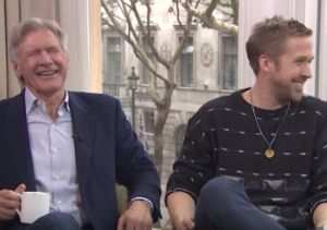 LOL! Ryan Gosling & Harrison Ford Interview Goes Completely Off the Rails