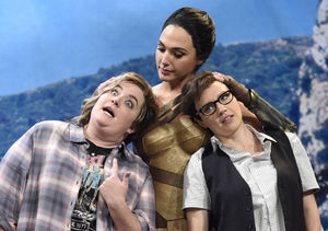 Gal Gadot Plants One on Kate McKinnon in 'SNL' Skit