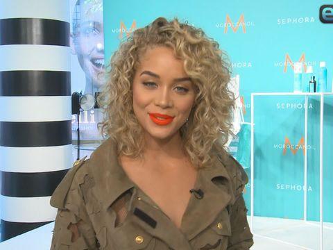 Jasmine Sanders Useful Trick For Healthy Curls Extratv Com