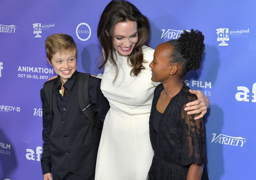 Angelina Jolie Hits the Red Carpet with Shiloh and Zahara