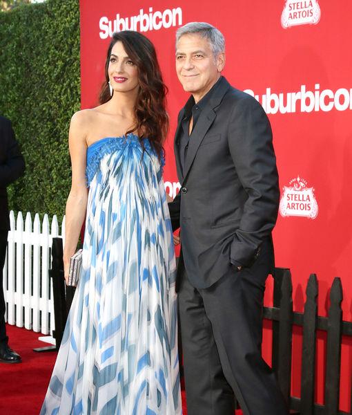 George Clooney and Matt Damon's Double Date Night at 'Suburbicon' Premiere