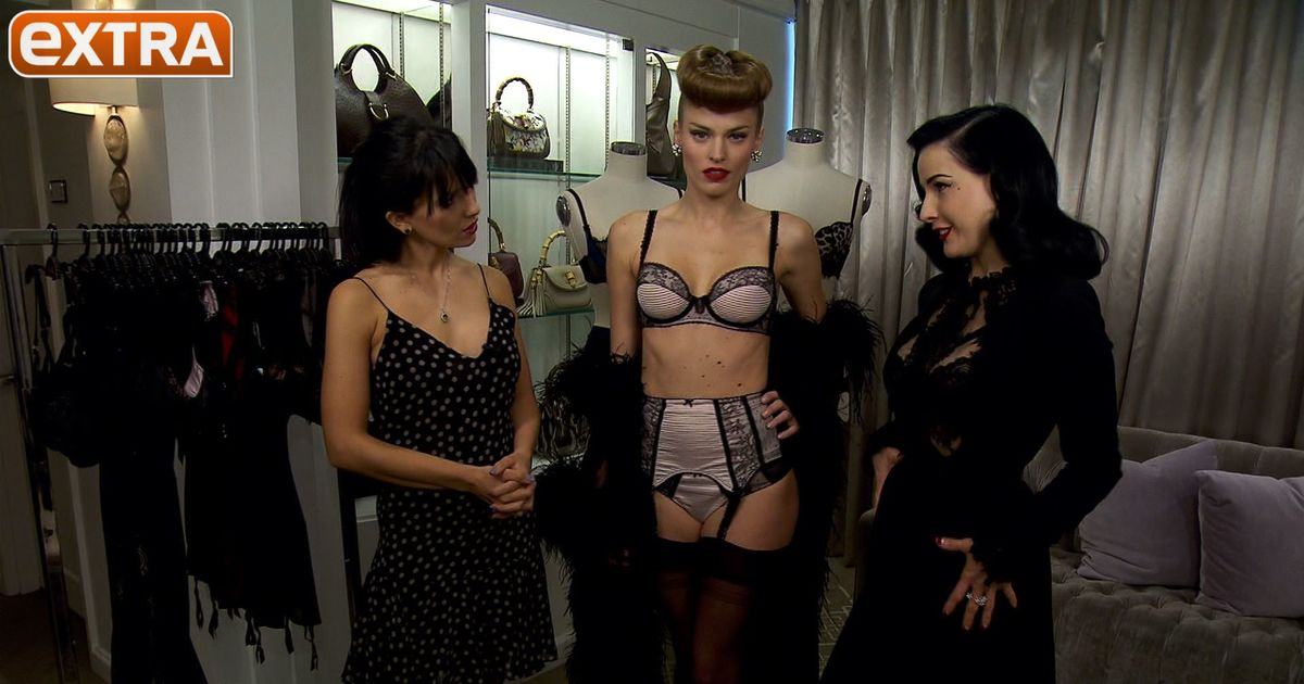 ecd1cd194eb Video! Dita Von Teese Launches Sexy New Lingerie Line