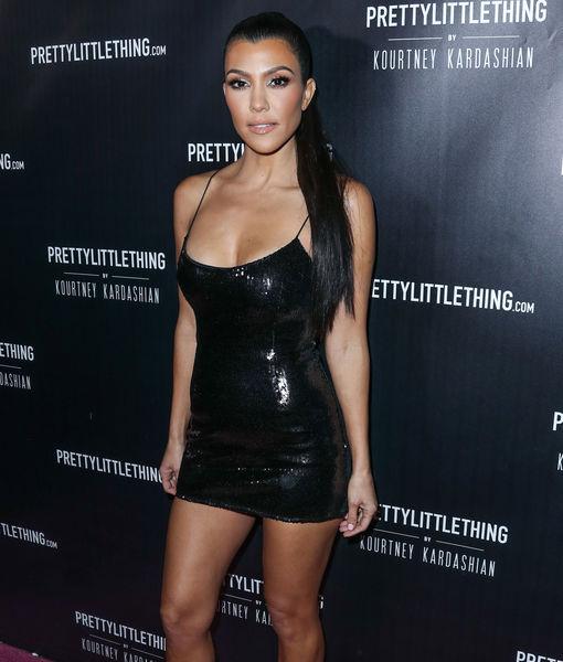 Kourtney Kardashian Stuns In Pretty Little Black Dress Plus Her
