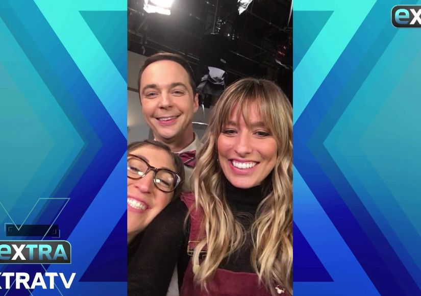 Wedding Plans, Professor Proton, and More! 'Extra' Visits 'The Big Bang Theory'