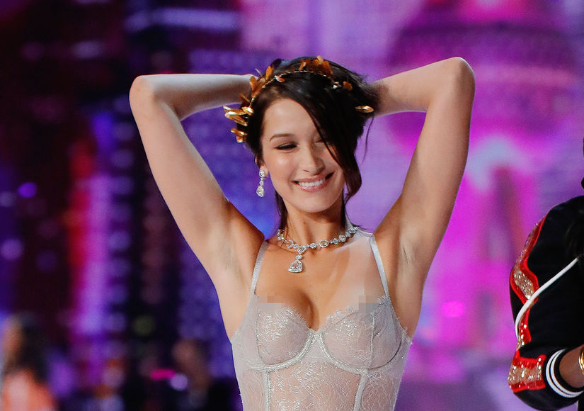 Bella Hadid Suffers Wardrobe Malfunction at Victoria's Secret Fashion Show
