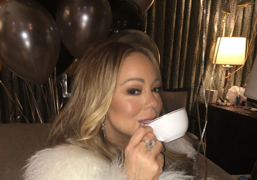 Mariah Carey Slays on NYE, Warms Up with Some Hot Tea