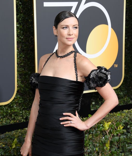 Caitriona Balfe Debuts Engagement Ring at Golden Globes 2018