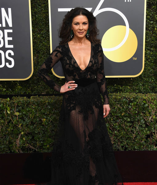 Catherine Zeta-Jones Reveals Why Michael Douglas Wasn't Her Golden Globes 2018 Date