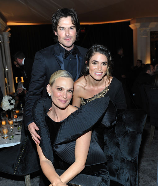 Ian Somerhalder Suffers Two Wardrobe Malfunctions, Skips Golden Globes Party Red Carpet