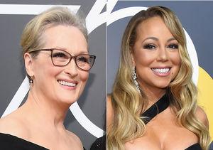 Meryl Streep's Epic Reaction to Mariah Carey Stealing Her Seat at Golden…