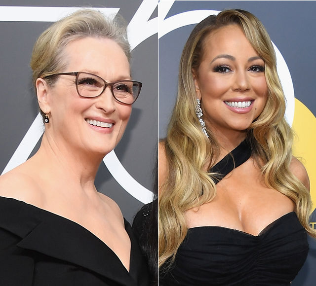 Meryl Streep's Epic Reaction to Mariah Carey Stealing Her Seat at Golden Globes 2018