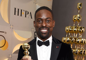 Backstage at the Golden Globes with Sterling K. Brown, Allison Janney &…