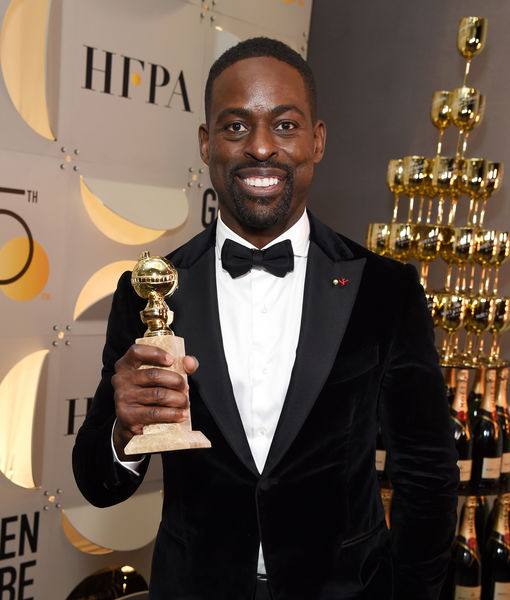 Backstage at the Golden Globes with Sterling K. Brown, Allison Janney & Others