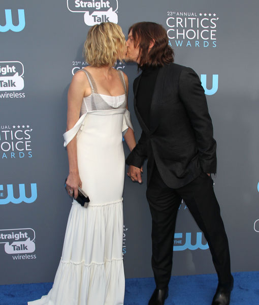 Diane Kruger & Norman Reedus' First Red-Carpet Kiss at Critics' Choice Awards 2018
