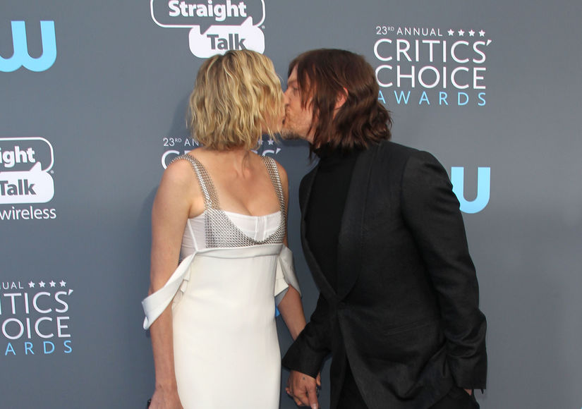 Diane Kruger & Norman Reedus' First Red-Carpet Kiss at Critics' Choice…