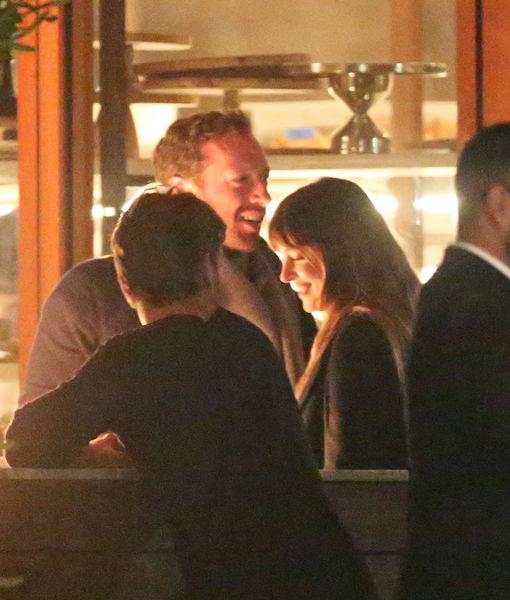 First Pic! Chris Martin & Dakota Johnson Spotted on Romantic Dinner Date