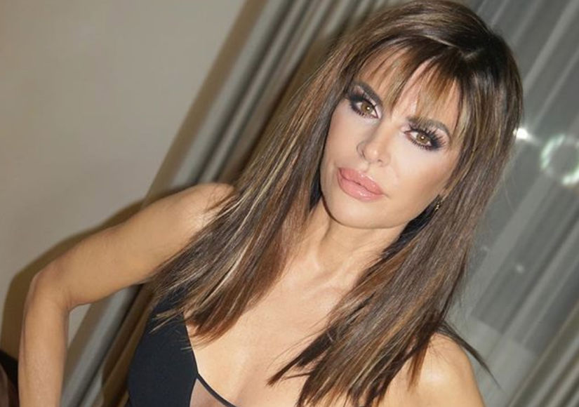 Wow! Lisa Rinna Looks Amazing with Hair Extensions