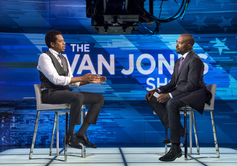 JAY-Z Talks Trump, #MeToo, Mending His Marriage to Beyoncé, and His Cooing Twins on 'The Van Jones Show'