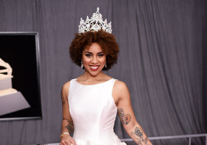 Joy Villa Wears Anti-Abortion Dress on the Grammys Red Carpet