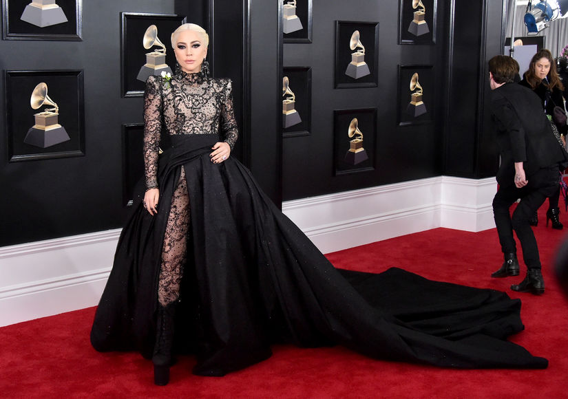 See Lady Gaga's Dramatic Grammys Look and Fierce 'Do