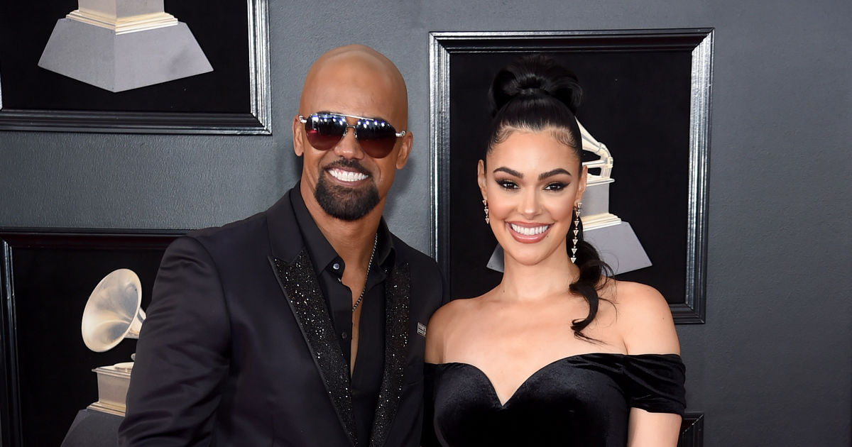 shemar moore hits the grammys with famous date � who�s the