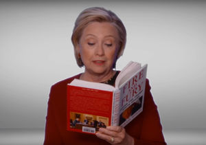 Watch! Hillary Clinton Reads 'Fire and Fury' in Grammys Spoof!