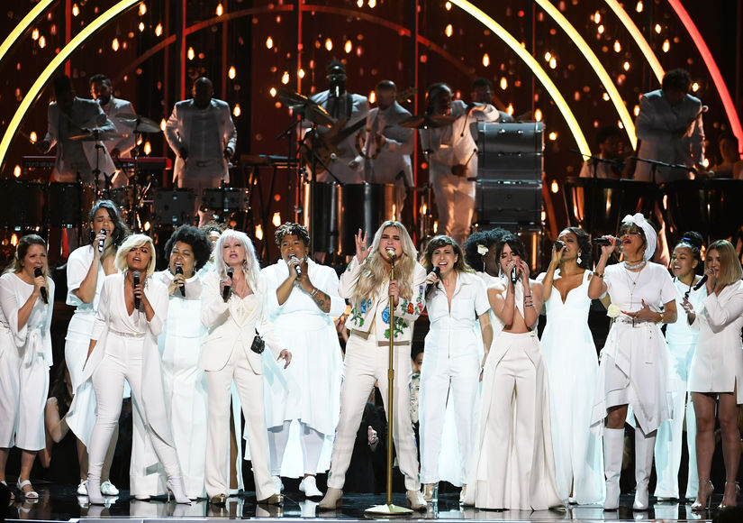 Stars Join Kesha on Grammys Stage for Emotional Performance of 'Praying'