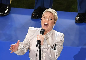 P!nk Powers Through National Anthem at Super Bowl