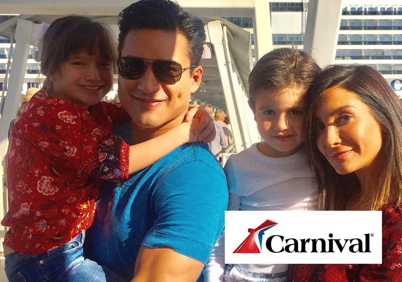 Mario Lopez & Family Set Sail on the Carnival Splendor from the Newly…