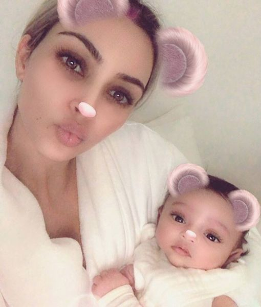 Kim Kardashian Posts Adorable First Pic of Baby Chicago West