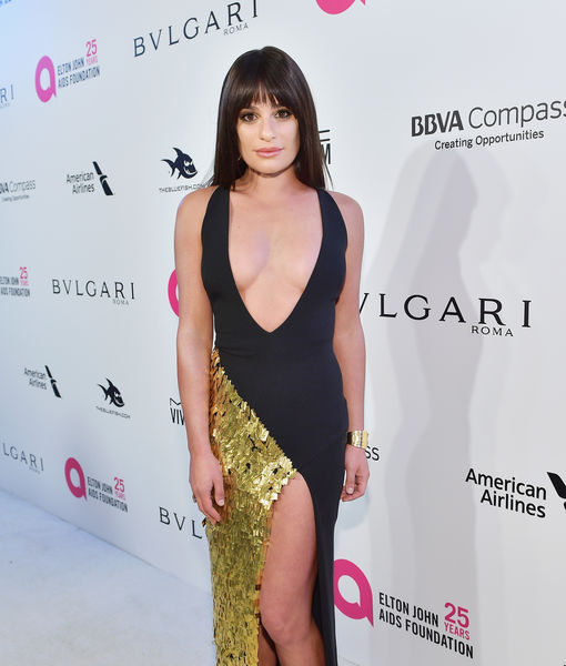 Lea Michele Suffers Nip Slip After Oscar Party