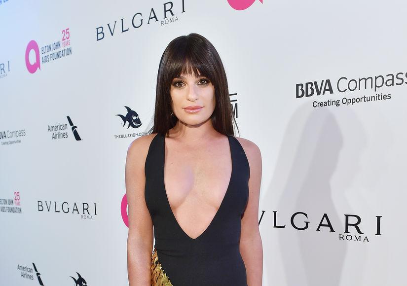 Lea Michele Suffers Nip Slip After Oscar Party