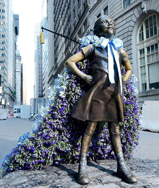 Old Navy 'Flower Empowers' Female Historical Statues for International Women's Day