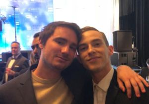 Adam Rippon (Finally) Meets Sally Field's Son Sam Greisman