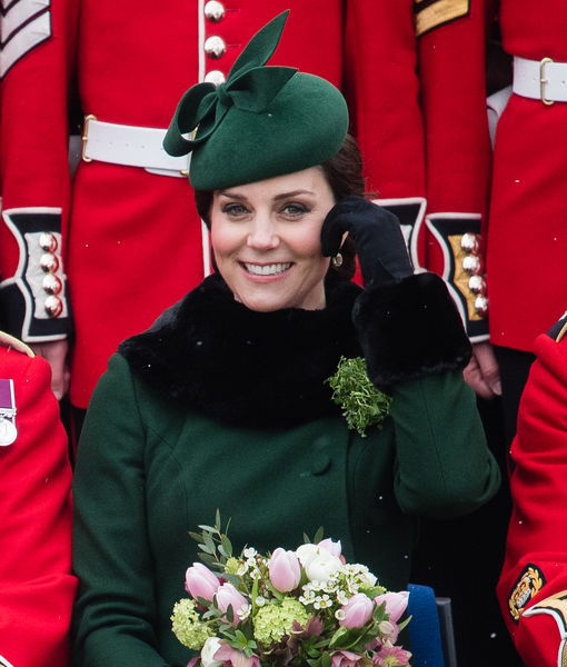 Kate Middleton Parades Her Baby Bump on St. Patrick's Day