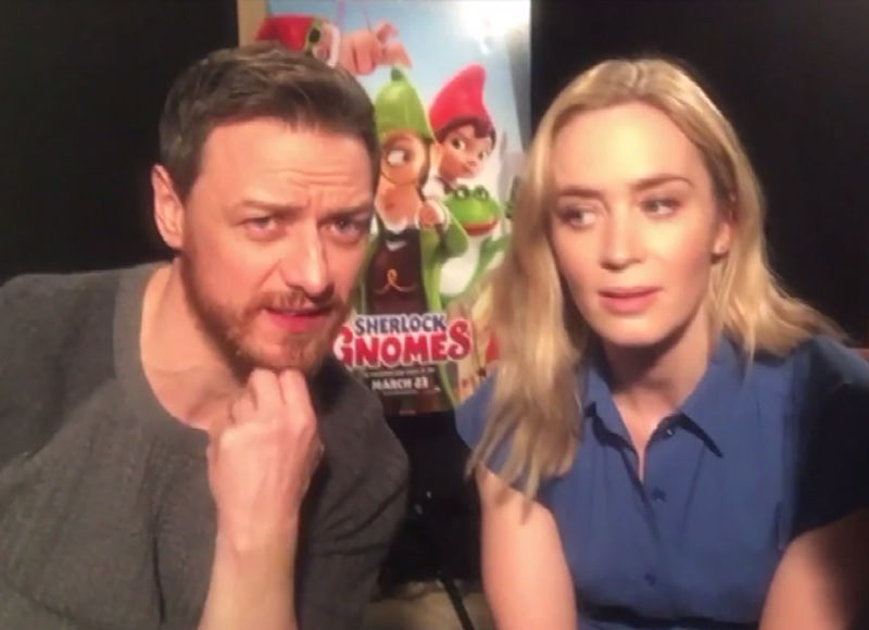 LOL! Watch James McAvoy & Emily Blunt's 'Extra' Interview Go Off the…