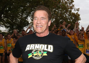 Arnold Schwarzenegger Flexes for the Fourth of July